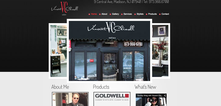 Vincent Chiarell Salon Website Design