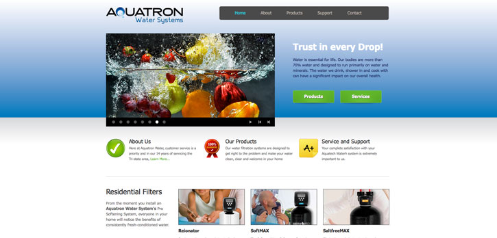 Aquatron Water Systems Website Design