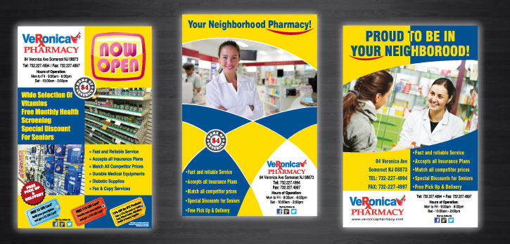 Posters Designed for Veronica Pharmacy of Somerset New Jersey